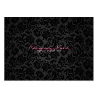 White & Black Vintage Floral Damasks Pack Of Chubby Business Cards
