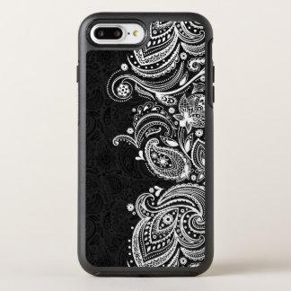 White & Black Vintage Paisley Lace OtterBox Symmetry iPhone 8 Plus/7 Plus Case