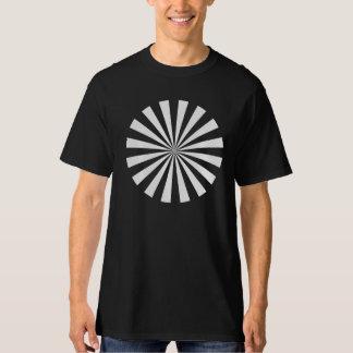 white black white circle T-Shirt