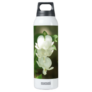 White Bleeding Heart 16 Oz Insulated SIGG Thermos Water Bottle