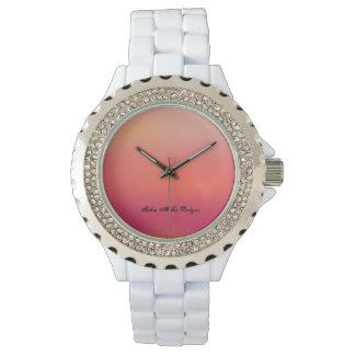 White Bling Sunset Wristwatch