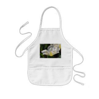 White Blooming Tulip Apron