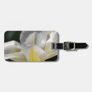 White Blooming Tulip Tag For Luggage