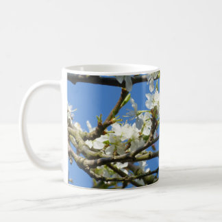 White blossom in Spring Basic White Mug