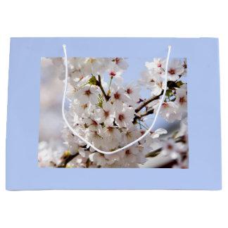 White blossom large gift bag
