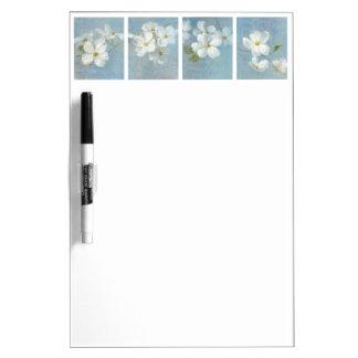 White Blossom Panel Dry Erase Board