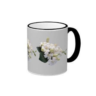 White Blossom Ringer Mug