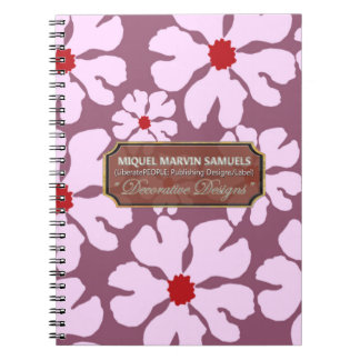 White Blossoms Decor Designer Modern Notebook