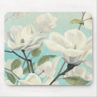 White Blossoms from the South Mouse Pad