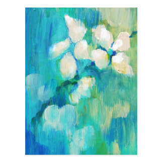 White Blossoms Postcards
