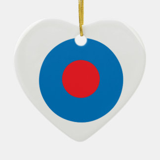 Heart shaped targets ceramic decorations heart shaped targets white blue bullseye target christmas ornament thecheapjerseys Gallery