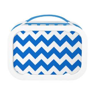 white blue chevron stripes lunch box