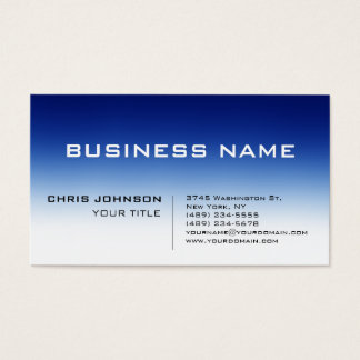White Blue Contemporary Consultant Business Card