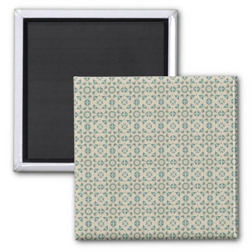 White Blue Geometric Pattern BAckground Refrigerator Magnet