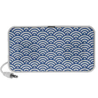 White blue Japaneese abstract wave pattern speaker