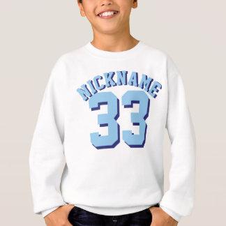 White & Blue Kids | Sports Jersey Design Sweatshirt