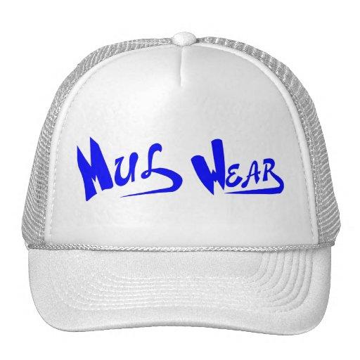 White & Blue Mul Wear logo cap Mesh Hats