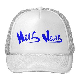 White Blue Mul Wear logo cap Mesh Hats