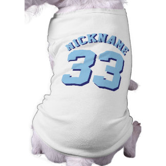 White & Blue Pets | Dog Sports Jersey Design Sleeveless Dog Shirt