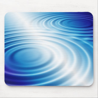 white blue ripples mouse pad