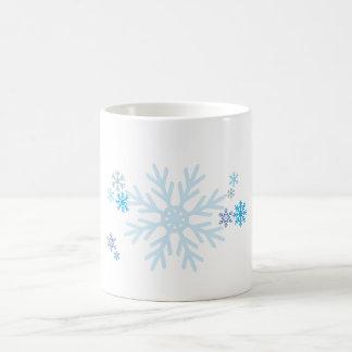 White Blue Snowflakes Christmas Bag Watch Button Coffee Mugs