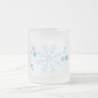 White Blue Snowflakes Christmas Bag Watch Button Coffee Mug