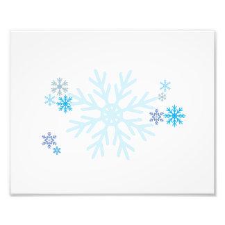 White Blue Snowflakes Christmas Invitation Stamps Art Photo