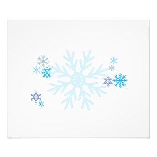 White Blue Snowflakes Christmas Invitation Stamps Photo Print