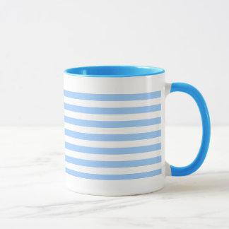 White-Blue Stripes Mug