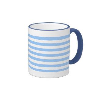 White-Blue Stripes Ringer Mug