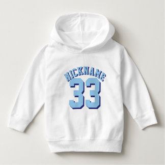 White & Blue Toddler | Sports Jersey Design Hoodie