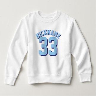 White & Blue Toddler   Sports Jersey Design Sweatshirt