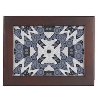 White Blue Wavy Abstract Keepsake Boxes