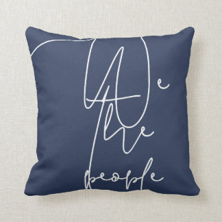 White Blue We the people Cushion
