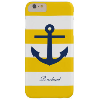 White Blue & Yellow Anchors Aweigh Barely There iPhone 6 Plus Case