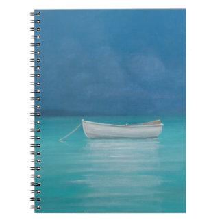 White boat Kilifi 2012 Spiral Note Book