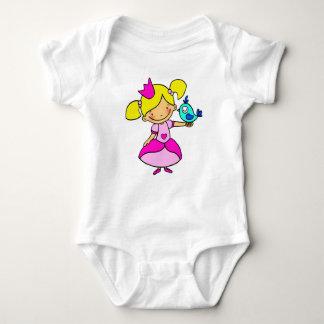 White body size 6 months with original baby bodysuit