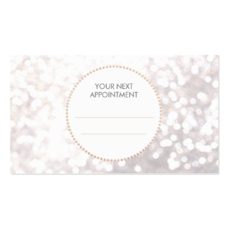 White Bokeh Gold Sequin Hair Salon Appointment Pack Of Standard Business Cards