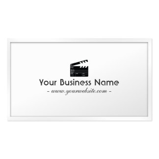 White Border Clapperboard Director Business Card