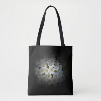 White Bouquet on Black Bag