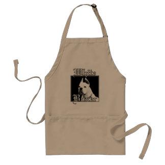 White boxer apron