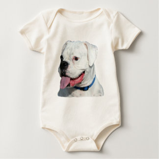 White Boxer baby Baby Bodysuit