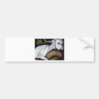 White Boxer Bumper Sticker