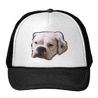 White Boxer Trucker Hat