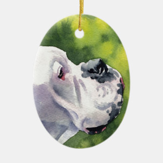 White Boxer Christmas Ornament