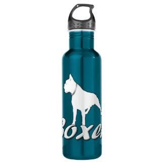 White boxer dog 710 ml water bottle