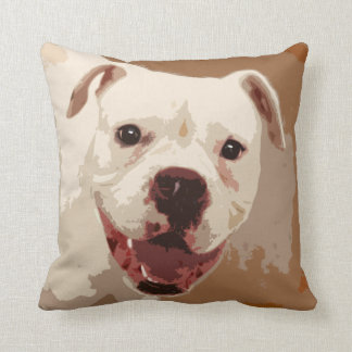 white Boxer Dog Cushion