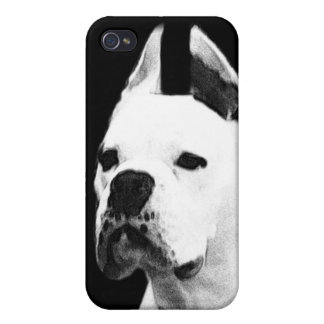 White boxer dog iPhone 4/4S cases