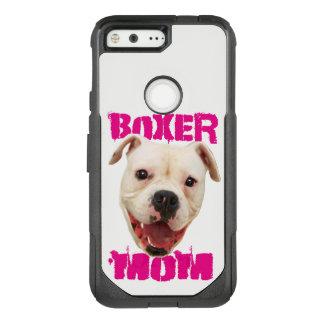 White Boxer Dog Mom Google Pixel phone case