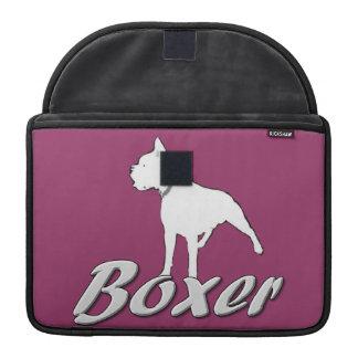 White boxer dog sleeve for MacBooks